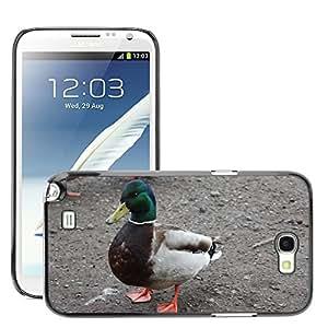 Just Phone Cases Etui Housse Coque de Protection Cover Rigide pour // M00127862 Pato del pato silvestre de aves // Samsung Galaxy Note 2 II N7100