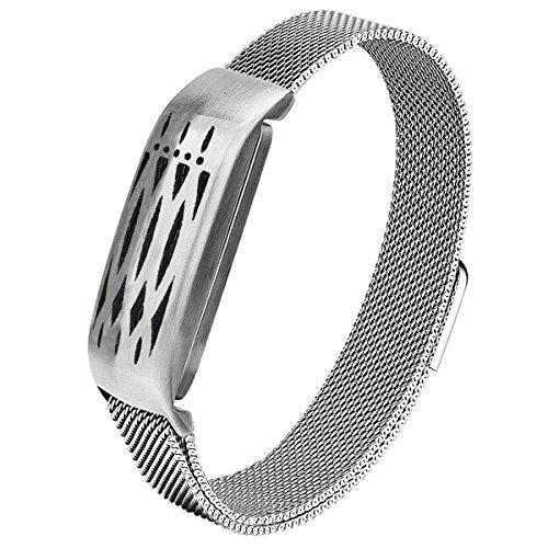 Flex Bracelet - V-Moro Compatible Bracelet for Fitbit Flex Bands, Stainless Steel Accessory Mesh Loop Bracelet Milanese Replacement Strap for Fitbit Flex 1st Generation, Cool Birthday (Silver)
