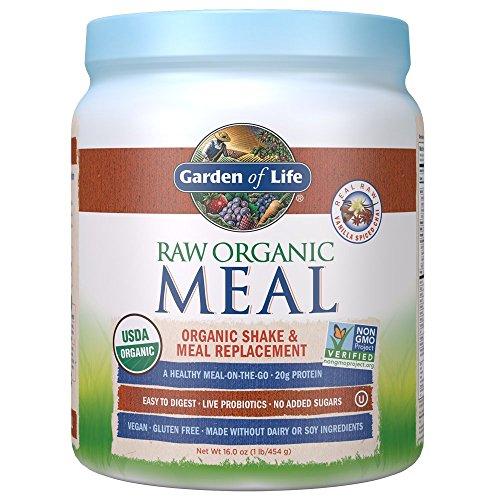 Garden of Life Meal Replacement - Organic Raw Plant Based Protein Powder, Vanilla Chai, Vegan, Gluten-Free, 16 oz (454g) Powder