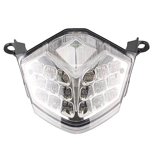 Newsmarts Motorcycle LED Taillight Turn Signal Brake Tail Light for Ninja ZX10R 2008 2009 2010, Ninja ZX6R/636 2009 2010 2011 2012 ()
