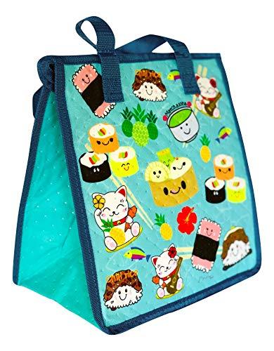 (Hawaiian Themed Reusable Insulated Eco Lunch Bag (MEDIUM 10