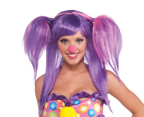 Forum Novelties Women's Circus Sweetie Costume Wig, Purple/Pink, One (Clown Wigs For Kids)