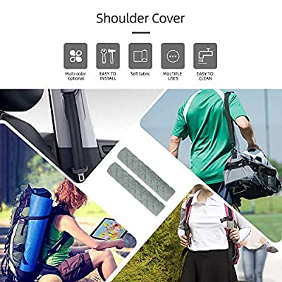 surpassme Car Seat Belt Pads Cover, 2 Pack Seat Belt Shoulder Strap Covers Protector to Release Stress to Your Neck and Shoulder for a Safety Driving (Grey): Automotive