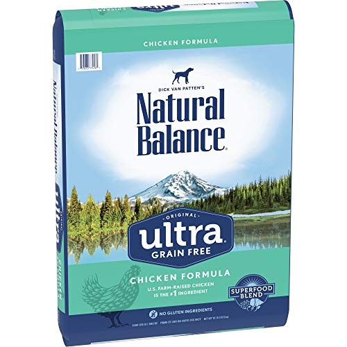- Natural Balance Original Ultra Grain Free Dog Food, Chicken Formula, 24-Pound Bag