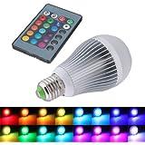 SODIAL(R) 12W E27 16 que cambia de color RGB Bombilla LED lampara de luz 85-265V + IR Remote Control