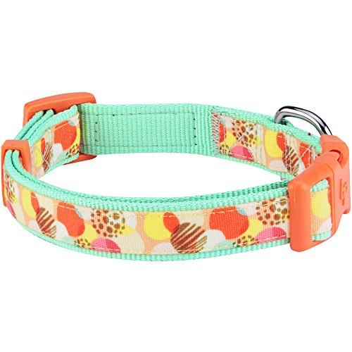 Image of Blueberry Pet 13 Patterns Blessed Wonderland Ideal Dots Dog Collar, Medium, Neck 14.5