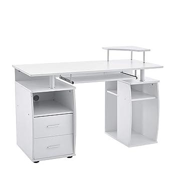 Keinode Computer Schreibtisch Mit Regalböden Schrank Und Schubladen