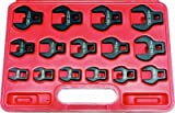 15Pc. Metric 3/8''Dr. Open End Crowsfoot Wrench