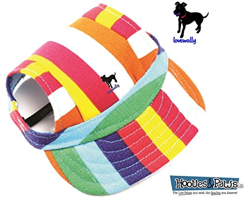 LoveWally Dog Outdoor PET Hat Rainbow ♦ Adjustable Authentic (Large) by LoveWally (Image #3)