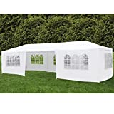 mecor 10'x30' Party Tent Canopy Wedding Tent Event Tent-Outdoor Gazebo White with 7 Sidewall 3 Rooms