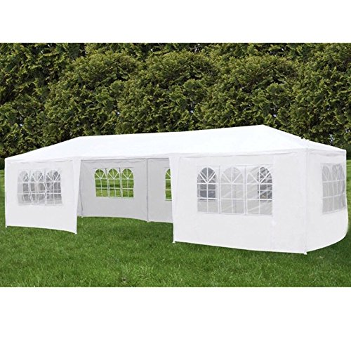 mecor 10'x30' Party Tent Canopy Wedding Tent Event Tent-Outdoor Gazebo White with 7 Sidewall 3 Rooms by mecor