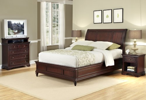 Home Styles  Lafayette Queen Sleigh Bed Night Stand And