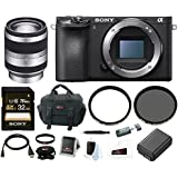 Sony a6500 Mirrorless Camera w/ 18-200mm Lens + 32GB Deluxe Accessory Bundle