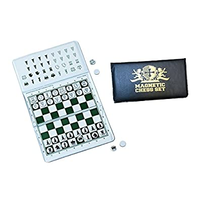WE Games Magnetic Checkbook Chess Set - Great for Travel