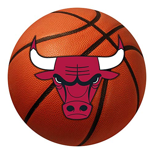 FANMATS  10218  NBA Chicago Bulls Nylon Face Basketball Rug