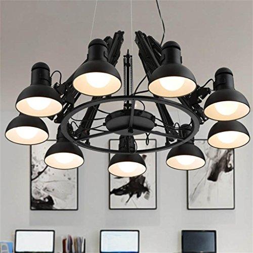 Restaurant bar industriels lampes de protection en fer rétractable lustre des yeux personnalité créative daraignée vintage de bureau de magasin de