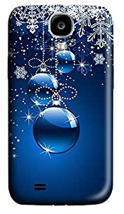 Samsung S4 Case Christmas Ornaments (blue Background) 3D Custom Samsung S4 Case Cover