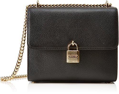 MICHAEL Michael Kors KORS STUDIO Mercer Studio Large Messenger Bag Black (Shoulder Black Link Leather Chain Bag)