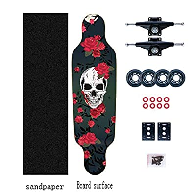 Aniseed Skateboards Mini Longboards Deck Cruiser Drop Through Downhill/Cruiser Freeride Complete Longboard 31 Inch Pink Triangle : Sports & Outdoors