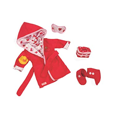 "Our Generation Dolls Robe A Dub Doll Deluxe Cherry Robe Outfit, 18"": Toys & Games"