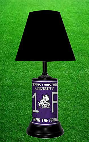 TEXAS CHRISTIAN UNIVERSITY HORNED FROGS NCAA LAMP - BY TAGZ (Desk Plates Frogs)