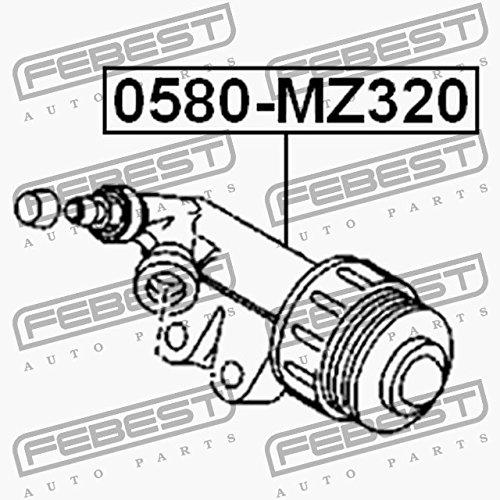 Cilindro de embrague esecutivo. febest Color 0580-mz320: Amazon.es: Coche y moto