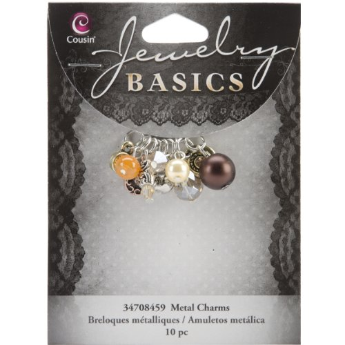 Cousin Jewelry Basics 10-Piece Glass/Metal Bead Cluster - Glass Basic Beads