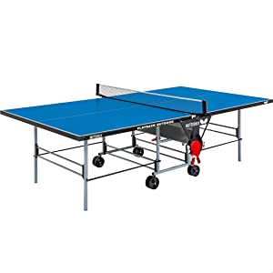 Butterfly Playback Rollaway Outdoor Ping Pong Table | Rolling Outdoor Table Tennis Table | Weatherproof Ping Pong Net | Perfect for Patios | Outdoor Butterfly Ping Pong Tables