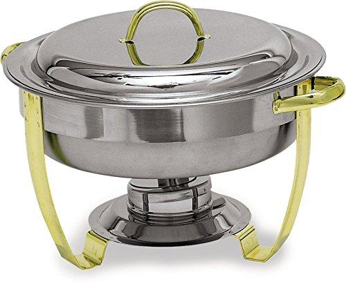 Carlisle 609530 Nina Stainless Steel 18-8 Round Chafer, 4-qt. Capacity, 11