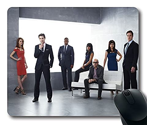 NEW Custom Fascinating Mouse Pad with White Collar Neal Caffrey Peter Burke Mozzie Elizabeth Burke Non-Slip Neoprene Rubber Standard Size 9 Inch(220mm) X 7 Inch(180mm) X 1/8 Inch(3mm) Desktop Mousepad Laptop Mousepads Comfortable Computer Mouse (Burke Wireless Mouse)