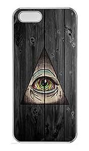 iPhone 5 5S Case Third Eye Symbol PC Custom iPhone 5 5S Case Cover Transparent