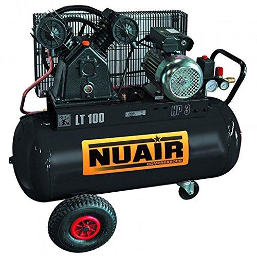 Compresor de aire à Pistón rãservoir de 100 litros Motor 3 CV Tête bi-cylindre NuAir: Amazon.es: Bricolaje y herramientas