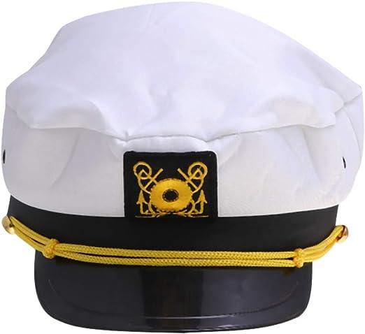 Amosfun Gorro de Capitán de Barco Gorros de Disfraz Sombrero de ...