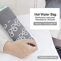 Bolsa de agua caliente de silicona 2 en 1 para microondas, bolsa ...
