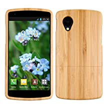 kwmobile Natural wood case for the LG Google Nexus 5 in bamboo light brown
