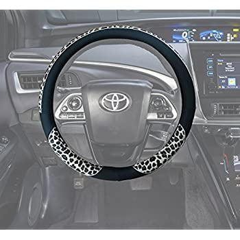 Amazon Com 02391 Black Car Pu Leather Steering Wheel