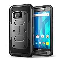 HTC One M9 Case, [Armorbox] i-Blason HTC One Hima M9 built in [Screen Protector] [Full body] [Heavy Duty Protection ] Shock Reduction[Bumper Corner] (Black)