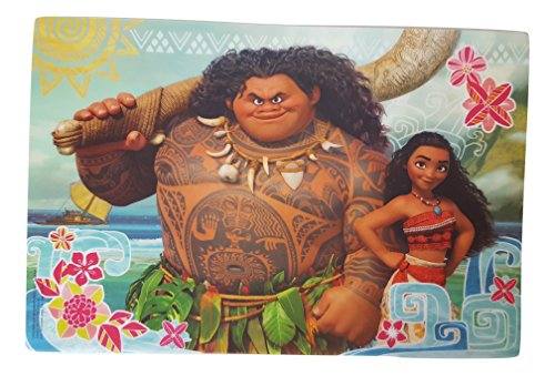 Designs Placemat with Moana and Maui Graphics, BPA-free Plastic ()