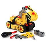 7-in-1 DIY Take Apart Truck Car Toys for 3 4 5 6 7 Year Old Boys Girls, Construction Engineering STEM Learning Toys Building Play Set for Kids Children