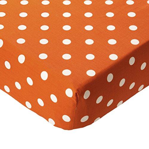 "Glenna Jean Orange Dot Crib Sheet Fitted 28""x52""x8"" Nursery Standard"