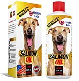 Salmon Oil Omega 3 & 6 for Dogs & Cats - Stops Dogs Itching Fast - For Healthy Skin & Shiny Coats - 100% Natural Organic Fish Oil Supplement for Pets - Unscented Formula With EPA DHA