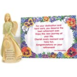 Enesco Foundations Best Retirement Gift, Retirement Angel Stone Resin Figurine