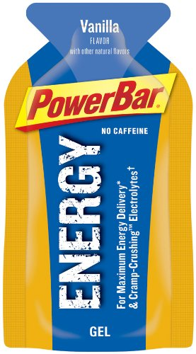 PowerBar Energy Gel, No Caffeine, Vanilla, 24-Count 1.44-Ounce Packets
