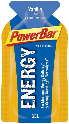 Energética de PowerBar Gel, No cafeína, vainilla, 24-cuenta 1,44 onzas paquetes