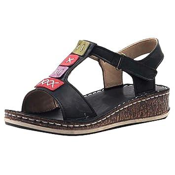 aead6fac7562a Amazon.com: ❤ Mealeaf ❤ Fashion Women Summer Platform Strap ...