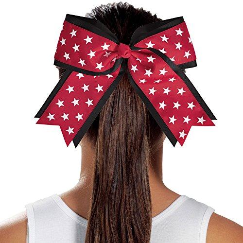 2 Color Jumbo Star Cheerleading Hair Bow