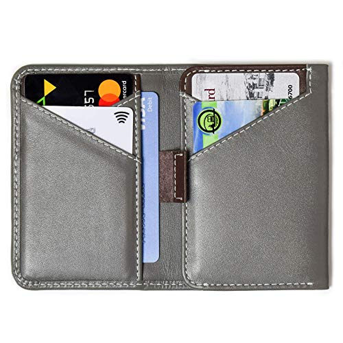 AUROCHS Slim & Minimalist Leather Wallet For Men RFID Blocking Perfect For Gifts