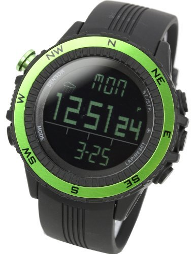 LAD WEATHER watch for outdoor sports heights humidity temperature made in Germany unisex lad004gr green by LAD WEATHER(¥é¥É¥¦¥§¥¶©`£©