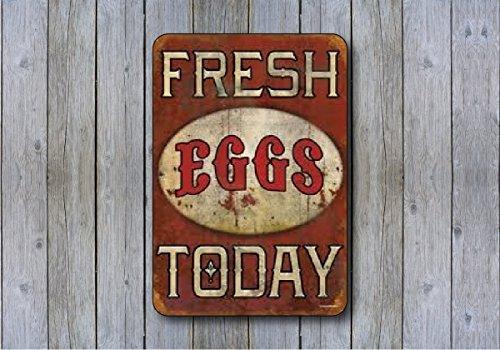 Man Cave Signs For Sale Australia : Fresh eggs today replica vintage sign quot aluminum