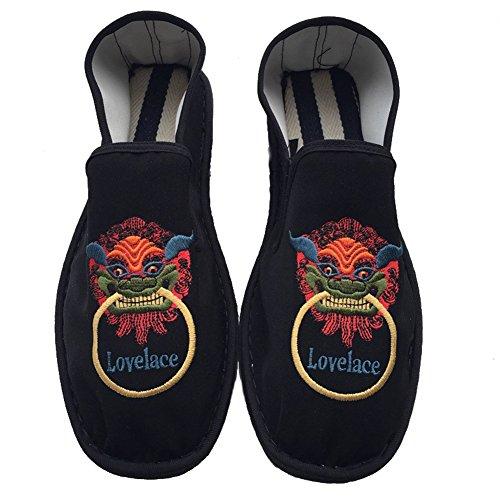 Eagsouni® Unisex chino Old Beijing bordado zapatos verano sandalias cómodo Casual zapatos de senderismo Negro3